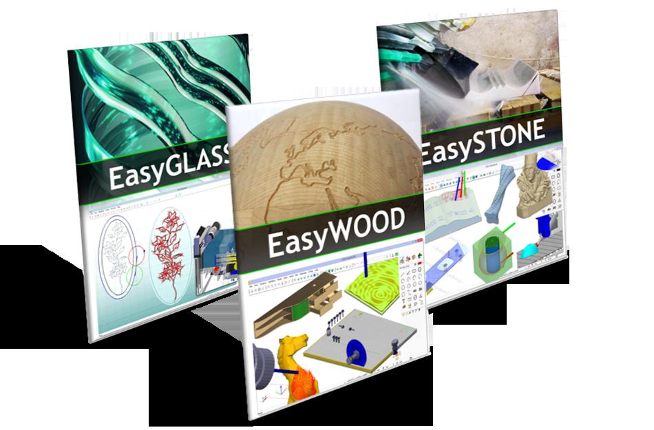 Logiciels DDX EasyWOOD - EasySTONE - EasyGLASS